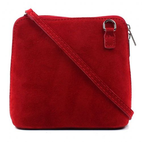 Suede Small Shoulder Bag - Red